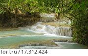 Купить «Водопад Куанг Си в Лаосе, таймлапс», видеоролик № 17312424, снято 23 декабря 2015 г. (c) Кирилл Трифонов / Фотобанк Лори