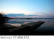 Купить «Boat dock at Smallfish Lake in scenic Saskatchewan», фото № 17458572, снято 27 июня 2019 г. (c) easy Fotostock / Фотобанк Лори