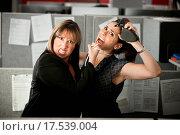 Купить «Office Workers Fighting», фото № 17539004, снято 21 февраля 2020 г. (c) easy Fotostock / Фотобанк Лори
