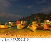 Купить «Night on a tropical beach», фото № 17553216, снято 25 марта 2019 г. (c) easy Fotostock / Фотобанк Лори