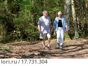Купить «Senior couple strolling through the park», фото № 17731304, снято 27 мая 2018 г. (c) easy Fotostock / Фотобанк Лори