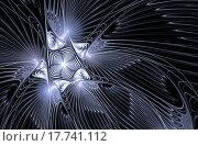 Абстрактный фрактальный замороженный вихрь. Стоковая иллюстрация, иллюстратор Елена Уткина / Фотобанк Лори