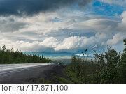 Россия, Мурманская область, автомобильная дорга М-18 Кола. Стоковое фото, фотограф Александр Циликин / Фотобанк Лори