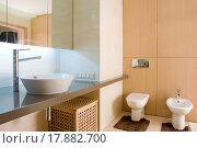 Купить «interior of a bathroom», фото № 17882700, снято 21 февраля 2019 г. (c) easy Fotostock / Фотобанк Лори