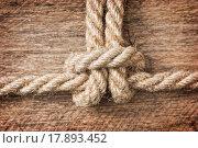 Купить «Rope with knots», фото № 17893452, снято 20 ноября 2018 г. (c) easy Fotostock / Фотобанк Лори
