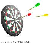 Купить «Three darts arrows flying into board», фото № 17939304, снято 21 сентября 2019 г. (c) easy Fotostock / Фотобанк Лори