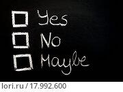 Купить «vote yes or no», фото № 17992600, снято 25 января 2020 г. (c) easy Fotostock / Фотобанк Лори