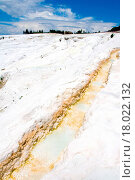 Купить «Pamukkale Turkey. Cotton white mountains. National reserve and tourist attractions. Hot Springs», фото № 18022132, снято 7 июля 2020 г. (c) easy Fotostock / Фотобанк Лори
