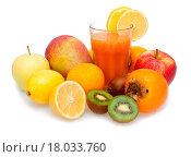 Купить «Multivitamin Juice», фото № 18033760, снято 24 февраля 2018 г. (c) easy Fotostock / Фотобанк Лори