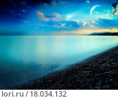 Купить «Comet  Abstract natural landscape on the sea coast», фото № 18034132, снято 30 июля 2008 г. (c) easy Fotostock / Фотобанк Лори