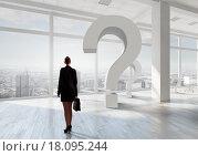 Купить «Businesswoman in top floor office», фото № 18095244, снято 19 июня 2019 г. (c) Sergey Nivens / Фотобанк Лори