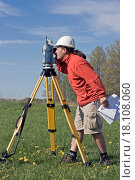 Купить «Surveyor at Work», фото № 18108060, снято 18 августа 2018 г. (c) easy Fotostock / Фотобанк Лори