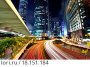 Купить «Traffic in city at night», фото № 18151184, снято 13 ноября 2018 г. (c) easy Fotostock / Фотобанк Лори