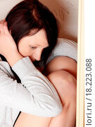 Купить «Scared abused woman», фото № 18223088, снято 21 июля 2019 г. (c) easy Fotostock / Фотобанк Лори