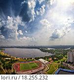 Панорама района Строгино, Москва (2013 год). Стоковое фото, фотограф Сергей Алимов / Фотобанк Лори