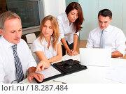 Купить «Business team», фото № 18287484, снято 19 сентября 2018 г. (c) easy Fotostock / Фотобанк Лори
