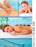 Купить «Spa center brochure», фото № 18288344, снято 22 июля 2018 г. (c) easy Fotostock / Фотобанк Лори