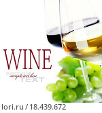 Купить «glasses of wine and grape», фото № 18439672, снято 28 января 2020 г. (c) easy Fotostock / Фотобанк Лори