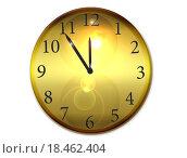 Часы на белом фоне. Стоковая иллюстрация, иллюстратор Юлия Цигун / Фотобанк Лори