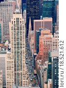Купить «New York City Manhattan street aerial view», фото № 18521612, снято 20 января 2020 г. (c) easy Fotostock / Фотобанк Лори