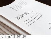 Пачка папок для делопроизводства. Стоковое фото, фотограф Валерий Трубицын / Фотобанк Лори