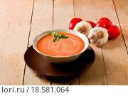 Купить «Tomato Soup», фото № 18581064, снято 23 марта 2019 г. (c) easy Fotostock / Фотобанк Лори