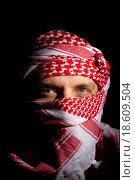 Купить «Man in a Keffiyeh», фото № 18609504, снято 23 июля 2019 г. (c) easy Fotostock / Фотобанк Лори
