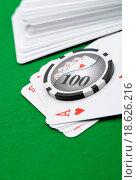 Купить «Gaming chips and cards», фото № 18626216, снято 19 февраля 2020 г. (c) easy Fotostock / Фотобанк Лори