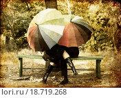 Купить «Couple in the park in fall», фото № 18719268, снято 19 сентября 2018 г. (c) easy Fotostock / Фотобанк Лори