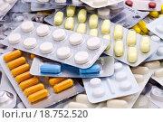 Купить «Close up of packs of pills», фото № 18752520, снято 19 января 2020 г. (c) easy Fotostock / Фотобанк Лори