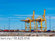 Купить «Sea trading port», фото № 18825016, снято 21 августа 2019 г. (c) easy Fotostock / Фотобанк Лори