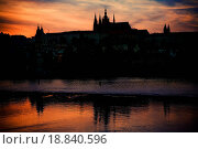 Купить «Prague Castle silhouette at sunset light», фото № 18840596, снято 23 января 2019 г. (c) easy Fotostock / Фотобанк Лори