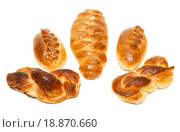 Купить «Five baked patties», фото № 18870660, снято 22 апреля 2019 г. (c) easy Fotostock / Фотобанк Лори