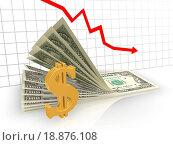 Купить «The graph of the dollar», фото № 18876108, снято 8 июля 2020 г. (c) easy Fotostock / Фотобанк Лори