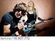 Rock singer. Стоковое фото, фотограф Mykola Velychko / easy Fotostock / Фотобанк Лори