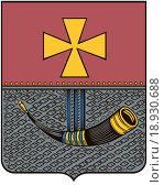 Купить «Герб города Виндава 1846 г. Латвия», иллюстрация № 18930688 (c) Владимир Макеев / Фотобанк Лори