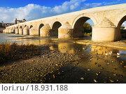 Ancient stone bridge over Guadalquivir river in Cordoba (2014 год). Стоковое фото, фотограф Яков Филимонов / Фотобанк Лори