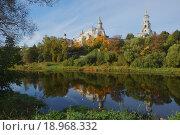 Борисоглебский мужской монастырь в Торжке (2015 год). Стоковое фото, фотограф Валерий Шевцов / Фотобанк Лори