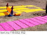 Купить «Dye cloth drying ; Jodhpur ; Rajasthan ; India», фото № 19032152, снято 25 мая 2019 г. (c) easy Fotostock / Фотобанк Лори