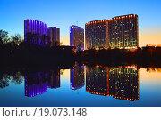 Купить «Гостиничный комплекс «Измайлово». Измайловское шоссе, 71. Москва», эксклюзивное фото № 19073148, снято 20 октября 2015 г. (c) lana1501 / Фотобанк Лори