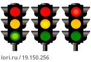 Купить «Traffic lights graphic isolated on white background», фото № 19150256, снято 20 февраля 2020 г. (c) easy Fotostock / Фотобанк Лори
