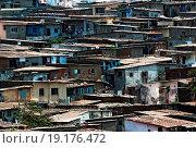 Купить «View of cluttered slums in Bombay Mumbai ; Maharashtra  ; India 30-April-2009», фото № 19176472, снято 31 мая 2020 г. (c) easy Fotostock / Фотобанк Лори
