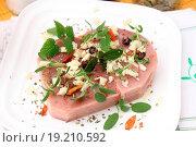 Fresh Tuna. Стоковое фото, фотограф CHROMORANGE / Yvonne / easy Fotostock / Фотобанк Лори