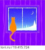 Купить «Cat looking into the window», фото № 19415724, снято 16 декабря 2019 г. (c) easy Fotostock / Фотобанк Лори