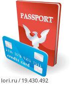 Купить «Passport and credit card illustration. Personal identity concept», фото № 19430492, снято 10 декабря 2019 г. (c) easy Fotostock / Фотобанк Лори