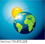 Купить «earth movement around the Sun», фото № 19473228, снято 22 августа 2018 г. (c) easy Fotostock / Фотобанк Лори