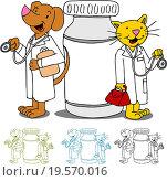 Купить «Pet Doctors with Medication», фото № 19570016, снято 21 июля 2018 г. (c) easy Fotostock / Фотобанк Лори