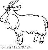 Купить «farm goat cartoon for coloring book», иллюстрация № 19579124 (c) easy Fotostock / Фотобанк Лори