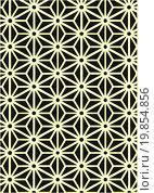 Узор в виде цветка из светлых линий на темном фоне. Стоковая иллюстрация, иллюстратор Ира Кураленко / Фотобанк Лори