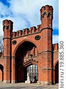 Купить «Rossgarten Gate - fort of Koenigsberg. Kaliningrad», фото № 19885360, снято 19 февраля 2019 г. (c) easy Fotostock / Фотобанк Лори